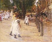 Max Liebermann On the Way to School in Edam oil painting picture wholesale