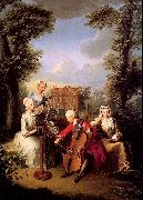 Mercier, Philippe Frederick, Prince of Wales and his Sisters at Kew oil painting picture wholesale