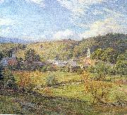 Metcalf, Willard Leroy The Village- September Morning oil painting artist
