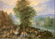 Michau, Theobald Peasants at the Market oil painting picture wholesale