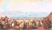 Miller, Alfred Jacob Encampment on Green River oil painting picture wholesale
