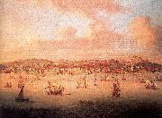 Monamy, Peter The British Fleet Sailing into Lisbon Harbor oil painting picture wholesale