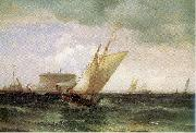 Moran, Edward Shipping in New York Harbor oil painting picture wholesale