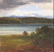 Morgenstern, Christian View Across Lake Starnberg to the Benediktenwand oil painting artist