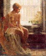 Mulhaupt, Frederick John Nude Seated by a Window oil painting picture wholesale