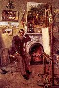 Narjot, Ernest Self-Portrait in the Artist's Studio oil painting picture wholesale