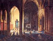 Neeffs, Peter the Elder Interior of a Gothic Church oil painting artist