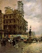 Nittis, Giuseppe de The Place des Pyramides oil painting artist
