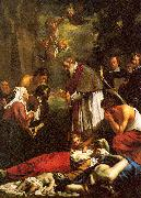 Oost, Jacob van the Younger St. Macaire of Ghent Tending the Plague-Stricken oil painting artist