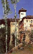 Ortega, Martin Rico y The Ladies' Tower in the Alhambra, Granada oil painting artist