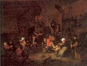 Ostade, Adriaen van Villagers Merrymaking at an Inn oil painting picture wholesale