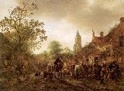 Ostade, Isaack Jansz. van The Halt at the Inn oil painting picture wholesale
