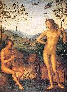PERUGINO, Pietro Apollo and Marsyas oil painting picture wholesale