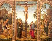 PERUGINO, Pietro The Crucifixion with the Virgin and Saints oil painting picture wholesale