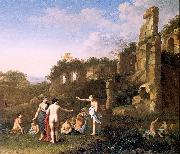 POELENBURGH, Cornelis van Women Bathing in a Landscape oil painting picture wholesale