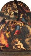 Paggi, Giovanni Battista Madonna and Child with Saints and the Archangel Raphael oil painting artist