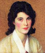 Paxton, William McGregor Portrait of Enid Hallin oil painting artist