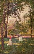 Paxton, William McGregor The Croquet Players oil painting artist