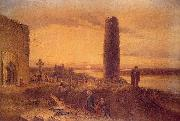 Petrie, George The Last Circuit of Pilgrims at Clonmacnoise oil painting picture wholesale