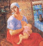 Petrov-Vodkin, Kozma Mother oil painting artist