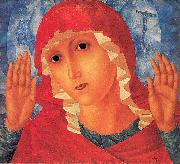 Petrov-Vodkin, Kozma Our Lady- Tenderness of Cruel Hearts oil painting artist