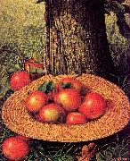 Prentice, Levi Wells Apples, Hat, and Tree oil painting picture wholesale