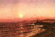 Raymond D Yelland Moonrise over Seacost at Pacific Grove oil painting picture wholesale