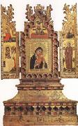 Simone Dei Crocefissi Virgin and Child with Saints a triptych (mk05) oil painting artist