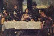 Titian The Supper at Emmaus (mk05) oil painting picture wholesale