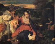 Titian The Virgin with the Rabit (mk05) oil painting picture wholesale