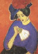 Alexei Jawlensky Woman with a Fan (mk09) oil painting picture wholesale