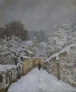Alfred Sisley Snow at Louveciennes (san21) oil painting picture wholesale