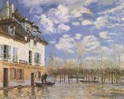 Alfred Sisley The Bark during the Flood,Port Marly (mk09) oil painting picture wholesale