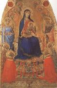 Ambrogio Lorenzetti Madonna and Child Enthroned,with Angels and Saints (mk08) oil