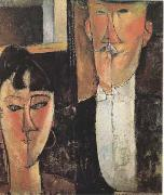 Amedeo Modigliani Bride and Groom  (mk09) oil painting picture wholesale