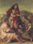 Andrea del Sarto The Madonna of the Stair (san05) oil painting picture wholesale
