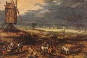 BRUEGHEL, Jan the Elder Landscape with Windmills (mk08) oil painting picture wholesale