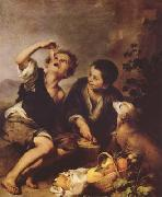 Bartolome Esteban Murillo The Pie Eater (mk08) oil painting picture wholesale