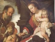 Bernardo Strozzi The Holy Family with John the Baptist (mk05) oil painting picture wholesale