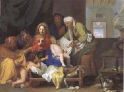 Brun, Charles Le Holy Family with the Infant Jesus Asleep (mk05) oil painting artist