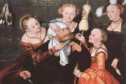 CRANACH, Lucas the Elder Hercules and Omphale (mk08) oil painting picture wholesale