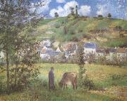 Camille Pissarro Landscape at Chaponval (mk09) oil painting picture wholesale