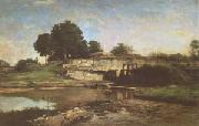 Charles-Francois Daubigny The Flood-Gate at Optevoz (mk05) oil painting picture wholesale