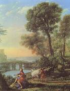 Claude Lorrain Landscape with Apollo and Mercury (mk08) oil painting picture wholesale