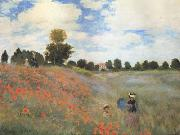 Claude Monet Poppies near Argenteuil (mk06) oil painting picture wholesale