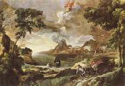 DUGHET, Gaspard Landscape with St Augustine and the Mystery of the Trinity (mk08) oil painting picture wholesale