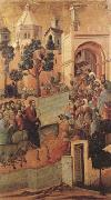 Duccio di Buoninsegna Christ Entering Jerusalem (mk08) oil painting picture wholesale