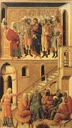 Duccio di Buoninsegna Peter's First Denial of Christ and Christ Before the High Priest Annas (mk08) oil painting picture wholesale