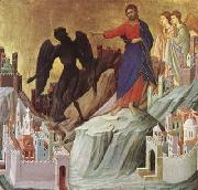 Duccio di Buoninsegna The Temptation of Christ on the Mountain (mk08) oil painting picture wholesale