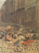 Ernest Meissonier The Barricade,Rue de la Mortellerie,June 1848 also called Menory of Civil War (mk05 oil painting picture wholesale